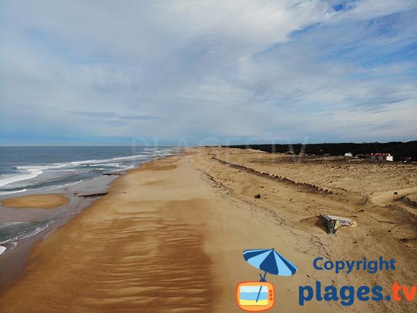 Photo de la plage de la Gravière à Hossegor