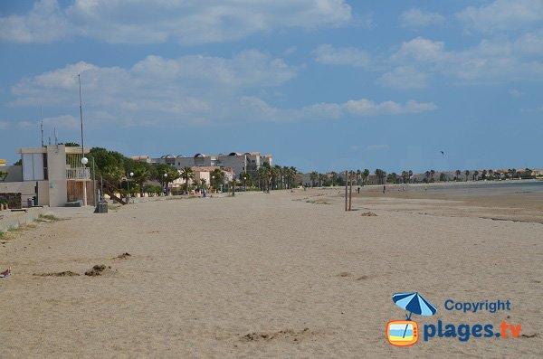 Environnement de la plage du Grazel de Gruissan