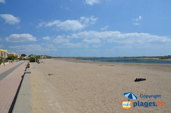 passeggiata pedonale - spiaggia del Grazel a Gruissan