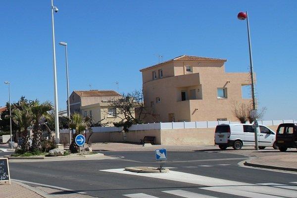 Rue St Maurice au niveau de la plage Grec à Palavas