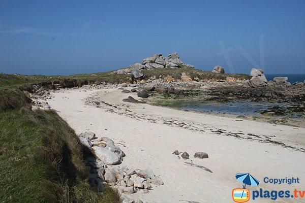 Photo de la plage de la Grenouillière à marée basse - Cléder