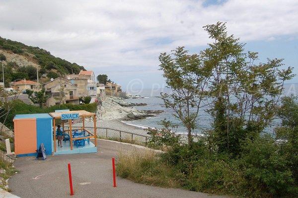Plage de Griogione à Bastia San Martino di Lota
