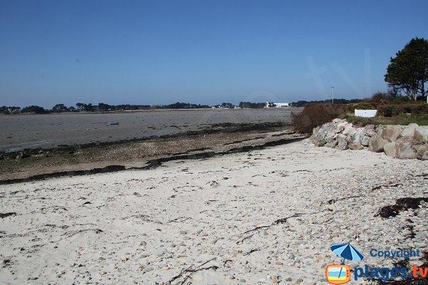 Beach of Groa Rouz in Roscoff in France