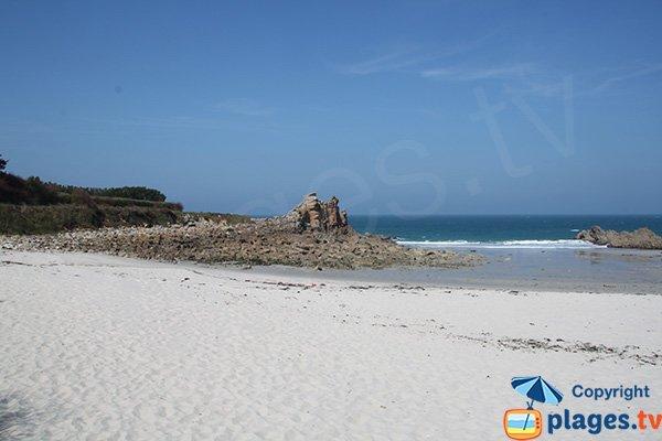 Photo de la plage de Groac'h Zu à Cléder