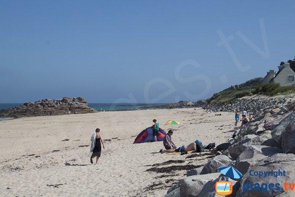 Rochers au bord de la plage du Guen - Erquy