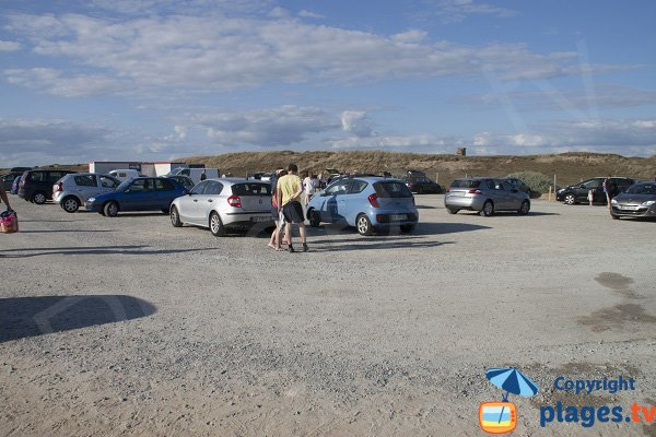 Car park of Guérite beach - Plouharnel