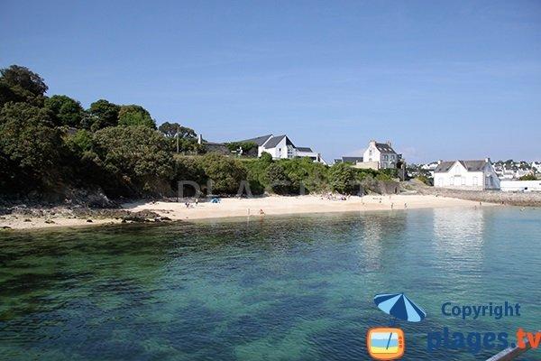 Extrémité de la plage sur l'estuaire de la Goyen - Audierne