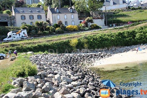 Cale d'accès à la plage de Guepratte à Audierne