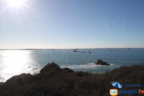 Coucher de soleil sur la plage de Plougasnou - Guerzit