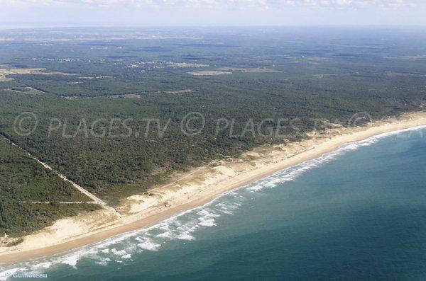 Photo de la plage du Gurp vue aérienne