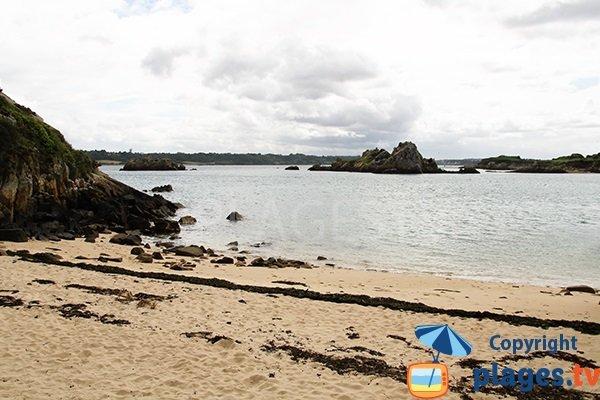 Iles autour de Bréhat depuis la plage de Gwaréva