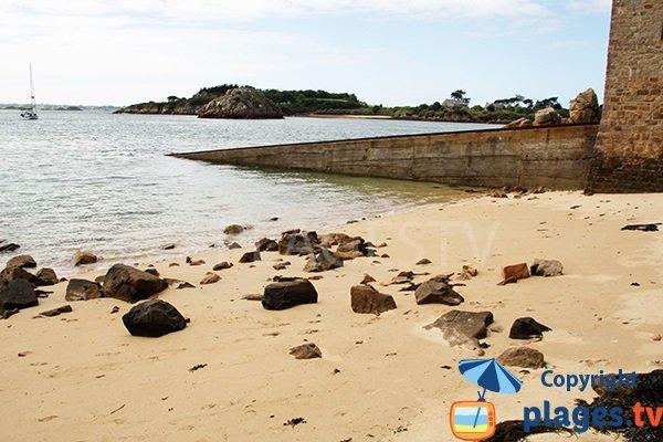 Photo de la plage du Kerport sur l'ile de Bréhat
