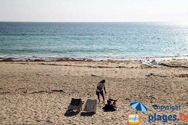 Plage de sable à Plouhinec - 29