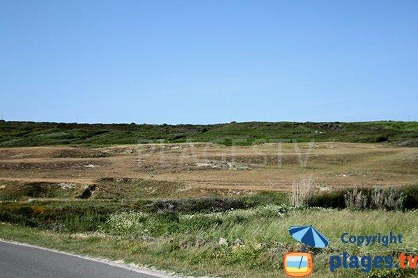Paysage de Plouhinec à proximité de la mer