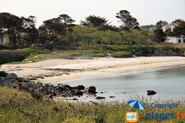 plage de Gwentraez à Landunvez - Finistère Sud