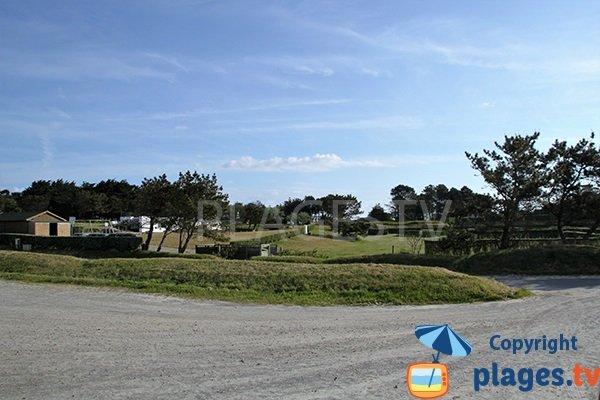 Parking de la plage de Gwentraez à Landunvez