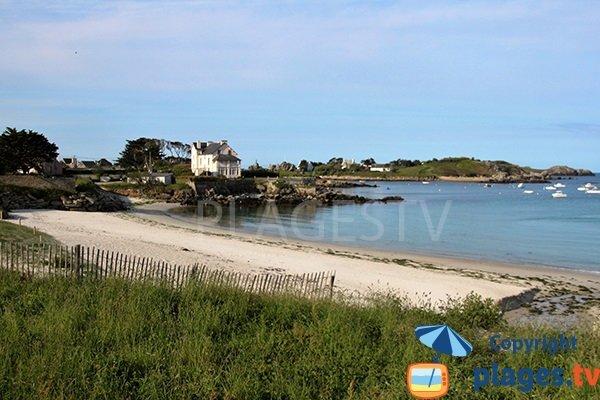 Photo de la plage de Gwentraez à Landunvez - Bretagne