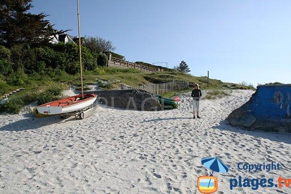 Abord de la plage de Gwisselier - Landunvez