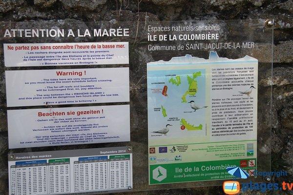 Réserve naturelle - Ile de la Colombière - St Jacut