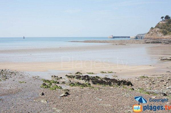 Photo de la plage d'Hacqueville à granville