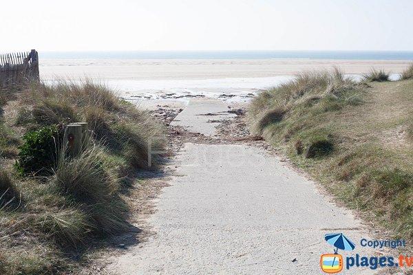 Cale d'accès à la plage d'Hattainville