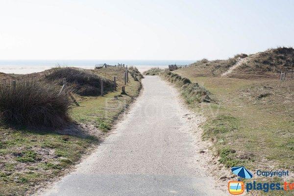 Chemin d'accès à la plage d'Hattainville