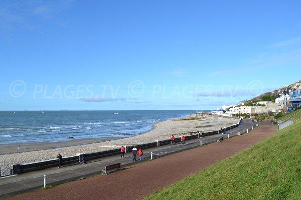 Plage du Havre en direction de Ste Adresse