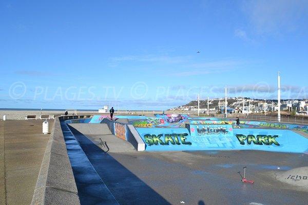 Skate park au Havre à côté de la plage