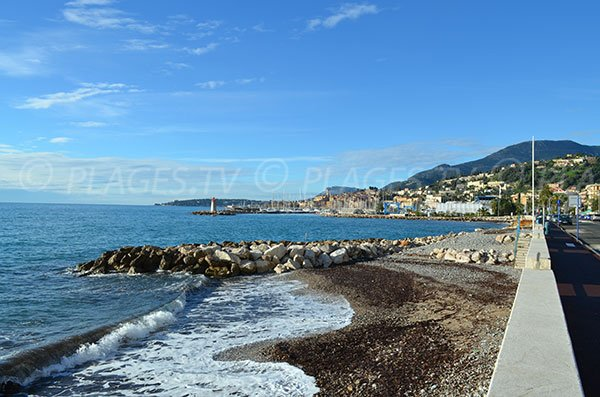 Hawai beach in Menton during winter