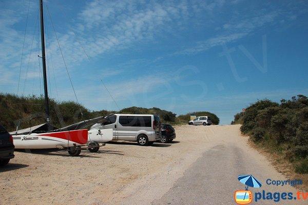 Parking de la plage des Hemmes
