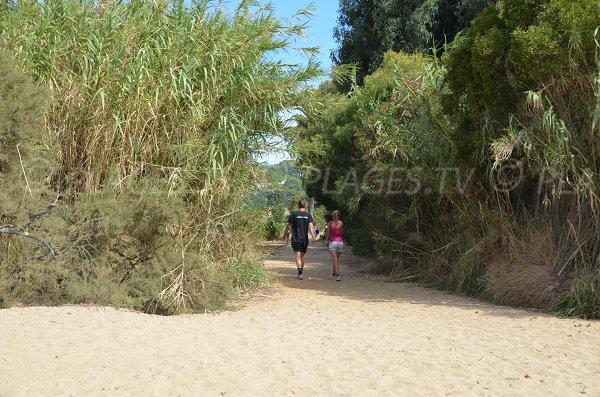 Accès à la plage par le domaine de la Madrague à La Croix Valmer