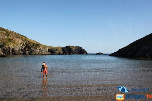 Swimming in Herlin beach in Belle Ile - Brittany
