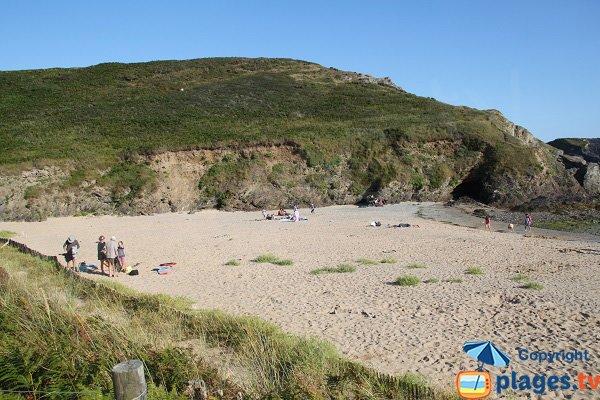 Dunes of Herlin beach in Belle Ile en Mer