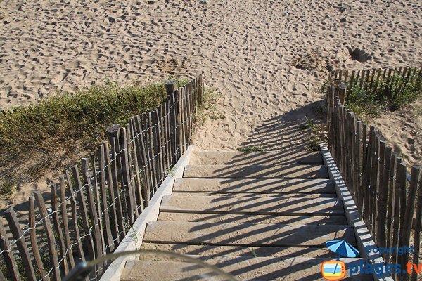 Stairs of Herlin beach - Belle Ile en Mer