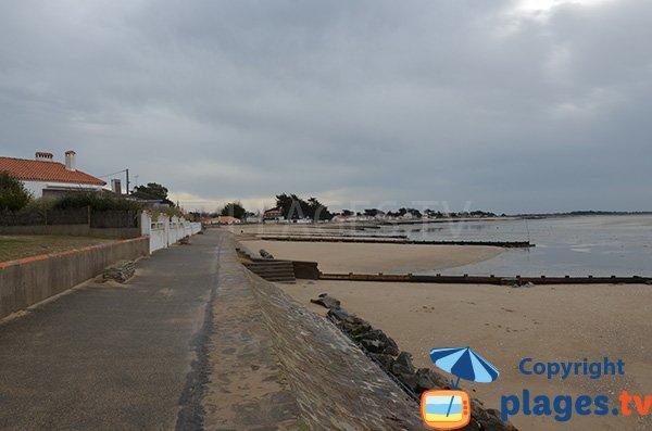 Photo de la plage de l'Hermitage à Moutiers en Retz