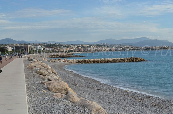 Photo of the beach near the Hippodrome of Cagnes sur Mer