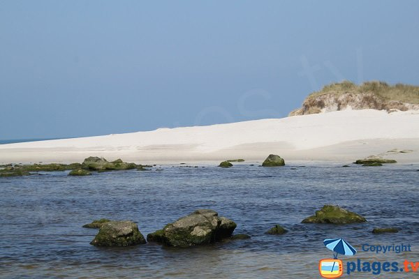 Beach on the Horn River in Santec