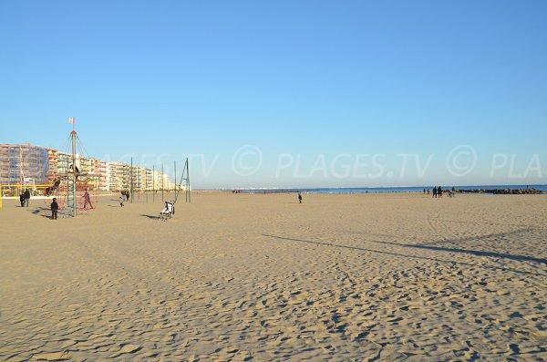 Photo de la plage du centre ville de Palavas les Flots