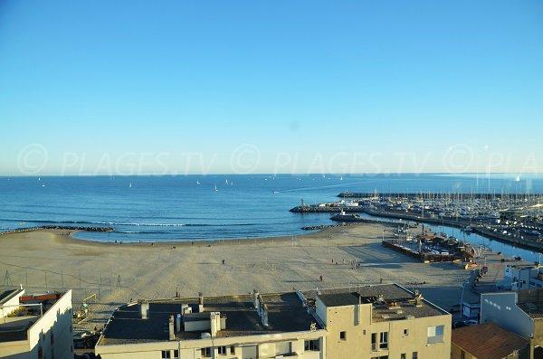 Photo de la plage de l'Hôtel de Ville de Palavas les Flots