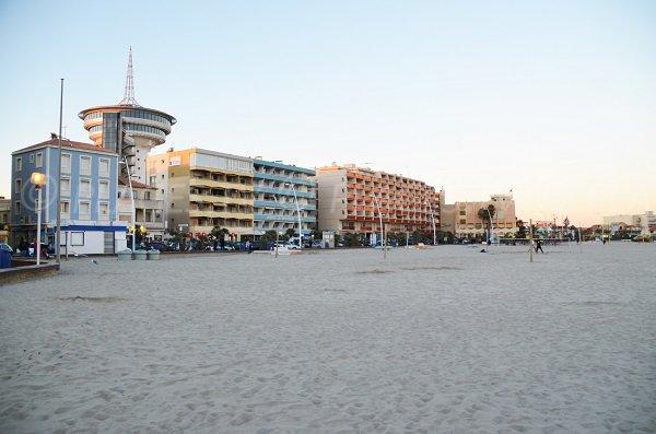 Mediterranean lighthouse and beach - Palavas-les-Flots