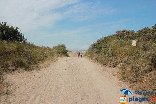 Photo de la plage de la Huchette à Marck
