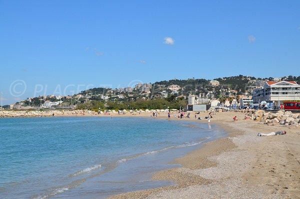 Beach near Prado avenue in Marseille - Huveaune