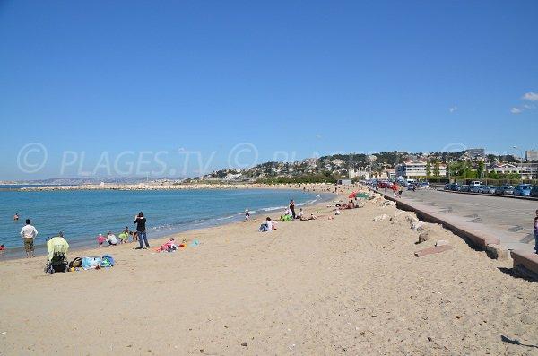 Huveaune beach in Marseille in France