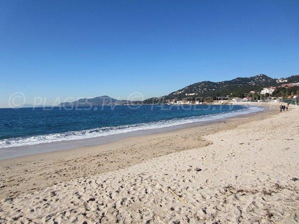 Almanarre beach in Hyères in France