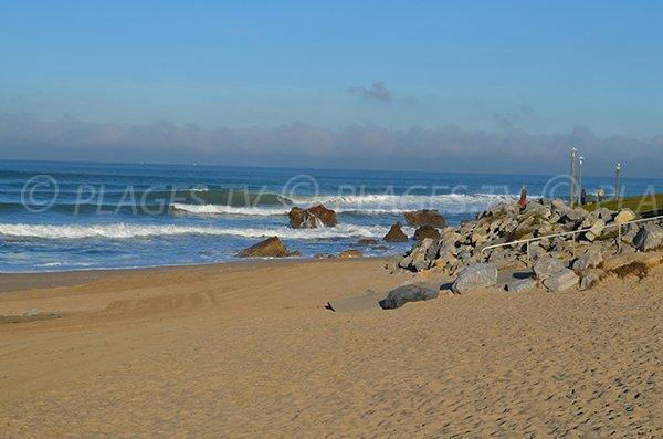Accès à la plage d'Ilbarritz pour les personnes à mobilité réduite