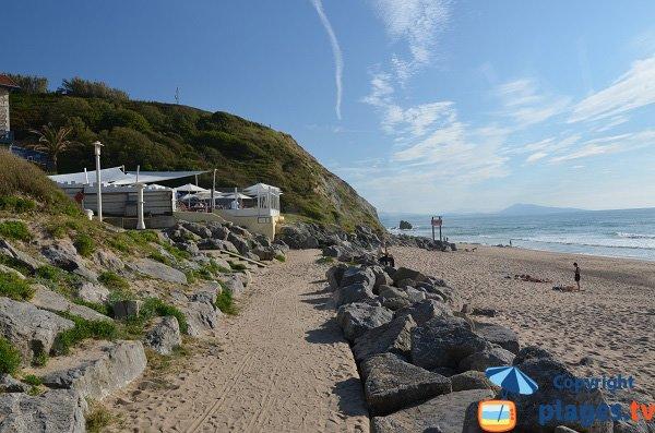Restaurant sur la plage d'Ibarritz à Bidart