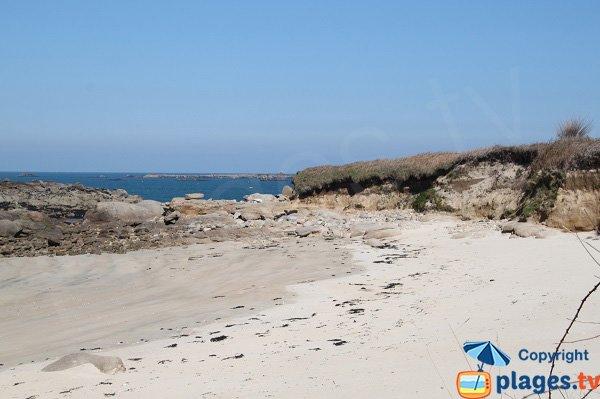 Plage au nord de l'ile de Callot - Ile Blanche