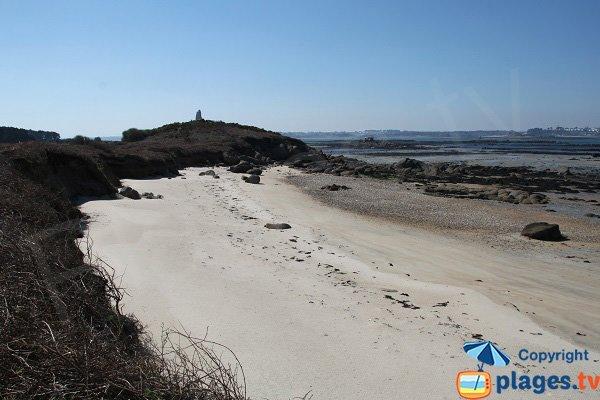 Plage de l'ile Blanche sur l'ile Callot à Carantec