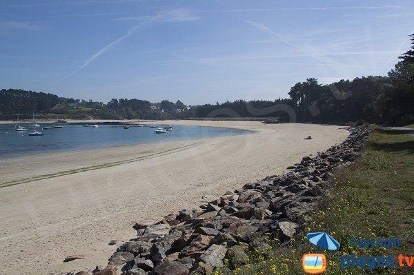 Plage de l'ile Blanche à Locquirec