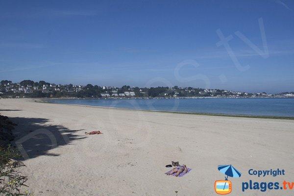 Photo de la plage de l'ile Blanche à Locquirec